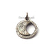 1 Pc Pave Diamond Moon Pendant  - 925 Sterling Silver/ Rose Gold - Moon Charm Pendant 21mmx18mm SJPDC094 - Tucson Beads