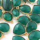 20 Pcs Emerald 24k Gold Plated Faceted Assorted Shape Connector & Pendant  20mm-28mm PC021 - Tucson Beads