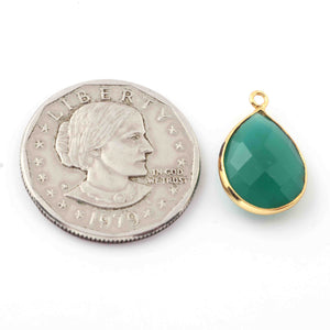 20 Pcs Emerald 24k Gold Plated Faceted Assorted Shape Connector & Pendant  20mm-28mm PC021