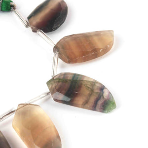 8 PCS Smoky Quartz Assorted Shape 24k Gold Plated Pendant/ Connector - 28mmx24mm PC008