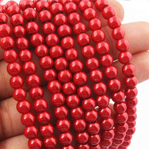 2 Strands Red Crystal Glass Beads Faceted Rondelles Beads 6mm 16 Inches BR1087 - Tucson Beads
