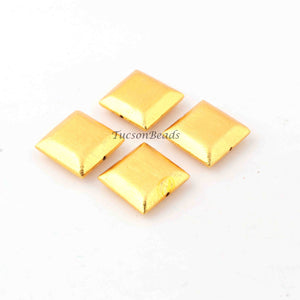 Gold Plated Designer Copper Square Shape Beads, Copper Beads, Jewelry Making, 16mm ,18mm ,20mm BulkLot GPC1072 - Tucson Beads