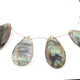 1  Strand Labradorite Faceted Briolettes -Pear Shape  Briolettes - 27mmx17mm-36mmx20mm -9 Inches BR1683 - Tucson Beads
