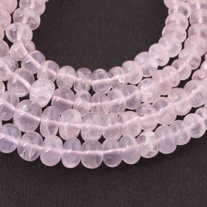 1  Strand Rose Quartz Smooth Roundelles Beads - Round ball Beads -6mm-14mm 18 Inches BR1767 - Tucson Beads