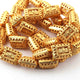 1 Strand 24k Gold Plated Designer Copper Rectangle Casting Beads - Jewelry - 20mmx14mm 8 Inches GPC285 - Tucson Beads