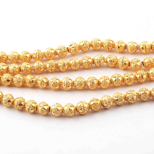 1 Strands Gold Plated Designer Copper Balls,Casting Copper Balls Beads,Jewelry Making Supplies 8mm 9  inches GPC388 - Tucson Beads