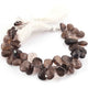 1 Strand Smoky Quartz Pear Shape Faceted Briolettes  13mmx11mm-13mmx16mm 7.5 Inches BR2082 - Tucson Beads