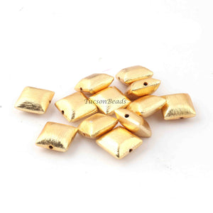 1 Strands Gold Plated Designer Copper Rectangle Scratch Bar Shape Beads,Jewelry Making 12mm 8.5 inches BulkLot GPC259 - Tucson Beads