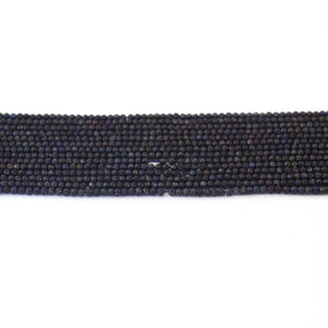 5 Strand Blue Sapphire Rondelles - Micro Faceted  Roundel Gemstone Beads 3mm 13 Inch Long RB402 - Tucson Beads