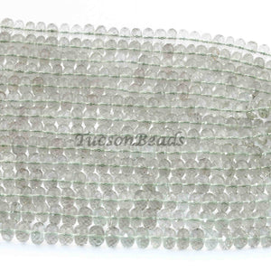 1 Long Strand Green Amethyst German Cut Rondelle - Wheel Rondelle Beads 8mm 8 Inch BR631 - Tucson Beads