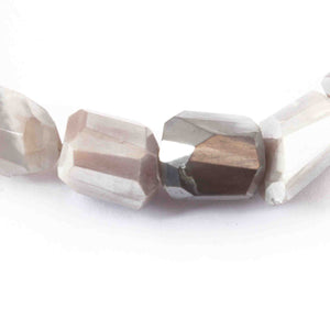 1 Strand Gray Silverite Faceted Briolettes -Fancy Briolettes 15mmx6mm-12mmx11mm 8 Inches BR940 - Tucson Beads