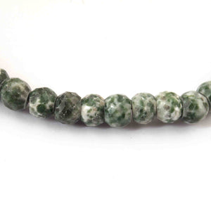 1 Strand Shaded green jasper Faceted Rondelles - Roundel Beads 8mm 8 Inches BR2046 - Tucson Beads
