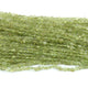 1 Strand Peridot Faceted  Coin shape Briolettes -Coin Briolettes  4mm-5mm 14.5 Inches BR2042 - Tucson Beads