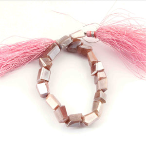 1 Strand Pink Silverite Faceted Briolettes -Fancy Briolettes 6mmx7mm-12mmx6mm 8 Inches BR941 - Tucson Beads