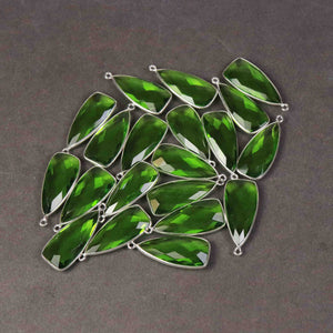 5 Pcs Peridot Faceted Dagger Shape 925 Sterling Silver Pendant 31mmx13mm  SS889 - Tucson Beads