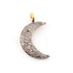 1 Pc White Topaz Moon Charm Pendant 925 Sterling Vermeil- Moon Pendant 20mmx5mm WTC452 - Tucson Beads
