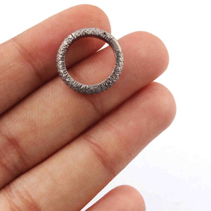 1 Pc Pave Diamond Fancy Round Lock - 925 Sterling Silver - Pave Diamond Round Lock - 16mm PDC485 - Tucson Beads
