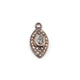 1 Pc Pave Diamond Evil Eye With Crystal Quartz & Green Onyx Charm 925 Sterling Silver Pendant - 15mmx7mm PDC1021 - Tucson Beads