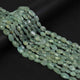 1 Strand Aquamarine Smooth Oval- Finest Quality Oval Beads  6mm-8mm 15 inch  RB060 - Tucson Beads