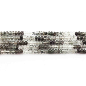 1  Long Strand Shaded Black Rotile Smooth Roundells - Roundells 4mm-13 Inches BR2564 - Tucson Beads