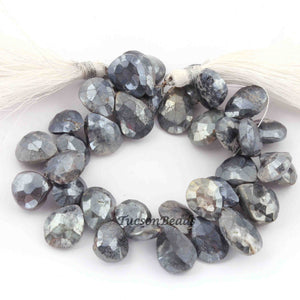1 Strands Labradorite Silver Coated   Briolettes - Pear Drop Shape Briolettes 12mx10mm-17mmx11mm  8 Inches BR2390 - Tucson Beads