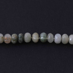 1 Long Strand Cat Eye  Faceted  Rondelles -Round Rondelles  Gemstone Beads - 9mm-7mm  13 Inches BR1124 - Tucson Beads
