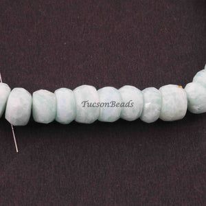 1 Strand Amazonite Faceted  Rondelles ,Round Beads,Roundel Beads 8mm-9mm 8 Inches BR2402 - Tucson Beads