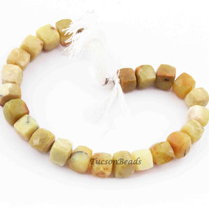 1 Strand Excellent Quality Cat's Eye Faceted Briolettes  - Cat's Eye Briolettes Beads 8mmx10mm 8 Inch BR1215 - Tucson Beads