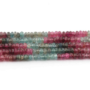 1  Long Strand Multi Tourmaline  Faceted Roundels -Round  Shape  Roundels 4mmx2mm-14 Inches BR2281 - Tucson Beads