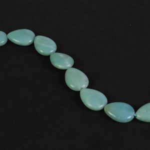 1 Strand Amazonite Smooth Pear Briolettes - Amazonite 15mmx13mm 15 Inches BR1815 - Tucson Beads