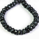 1 Strand Snow Flake Obsidian Faceted Rondelles , Snow Flake Round Beads, 10mm-11mm 8 Inches BR817 - Tucson Beads