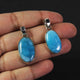 1 Pc Genuine and Rare Larimar Oval Pendant - 925 Sterling Silver - Gemstone Pendant  SJ075 - Tucson Beads