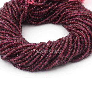 5 Strands Garnet Faceted AAA Quality Rondelles 3.5mm to 4mm 13.5 inch strand RB085