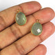 7  Pcs Green Aqua  Chalcedony  Faceted Assorted Shape 24k Gold Plated Pendant  - 19mmx12mm-PC668 - Tucson Beads