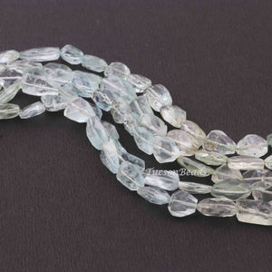 1 Strand Aquamarine Faceted Briolettes -Assorted Shape  Briolettes  6mmx7mm-15mmx8mm-9 Inches BR3679 - Tucson Beads