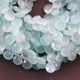 1 Strand Aaa Quality Aqua Chalcedony Faceted Heart Shape Beads Briolettes 8mm-10mm 8 Inches BR1724 - Tucson Beads