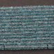 5 Strands Aquamarine Faceted Finest Quality Rondelles 3.5mm to 4mm 13.5 inch strand RB109 - Tucson Beads