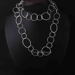 1 Necklace Top Quality 3 Feet Each Silver Plated Round Shape Copper Link Chain - Each 8 inch GPC926 - Tucson Beads