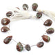 1  Strand Mahogany Smooth Briolettes -Pear Shape  Briolettes  13mmx7mm-15mmx10mm 8 Inches BR2711 - Tucson Beads