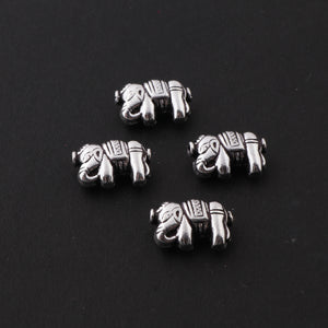 10 Pcs Oxidized  Plated Copper Elephant Beads, Black Polish Charm,  Copper Beads,  Jewelry Making Tools, 18mmx12mm, gpc855 - Tucson Beads