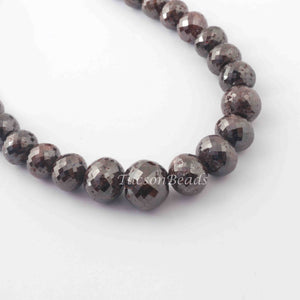 226 Ct 1 Long Strand Brown Red Diamond 1mm Large Hole Rondelles - Genuine Diamond Beads 15 Inch Long BDU001 - Tucson Beads