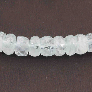 1 Strand Natural Chalcedony  Faceted Roundels Beads - Round  Roundel 8mmx6mm 8 Inch  BR3174 - Tucson Beads