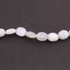 1 Strand  White moonstone  Oval Shape Briolettes - 13mmx10mm 12 Inches BR737 - Tucson Beads