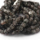 1 Strand Black Rutile Faceted Briolettes -Cube  Shape  Briolettes  6mm-8mm -8.5 Inches BR3721 - Tucson Beads