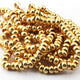 1 Strand Gold Plated Copper Wheel Beads , Designer Copper Beads ,Jewelry Supplies 6mm-8mm 9 inches GPC300 - Tucson Beads