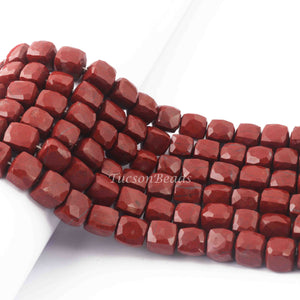 1  Strand Chocolate Moonstone Faceted Briolettes  -Cube Shape Briolettes  7mm-8mm  10 Inches BR2420 - Tucson Beads