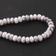 1  Strand Gray Silverite Faceted Rondelles  - Gemstone Rondelles  9mm- 8mm 6.5 Inches BR2494 - Tucson Beads