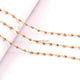 5 FEET Brass Pyrite Beaded Chain - Brass Pyrite Beads wire wrapped 24k Gold Plated chain per foot BDG045 - Tucson Beads