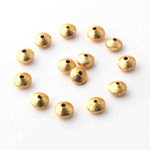 1 Strand Fine Quality Japanese Cap Beads 24K Gold Plated Over Copper - Japanese Cap Beads  8mmx5mm 8 Inche Strand GPC290 - Tucson Beads