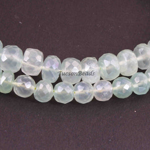 1 Strand Green Chalcedony Faceted Rondelles - Green Chalcedony Roundles Beads 9mmx6mm-6mmx2mm 8 Inches BR3067 - Tucson Beads